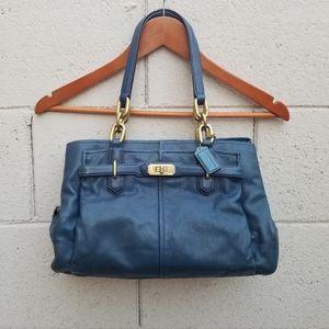 Coach | Blue Leather Over-The-Shoulder Purse